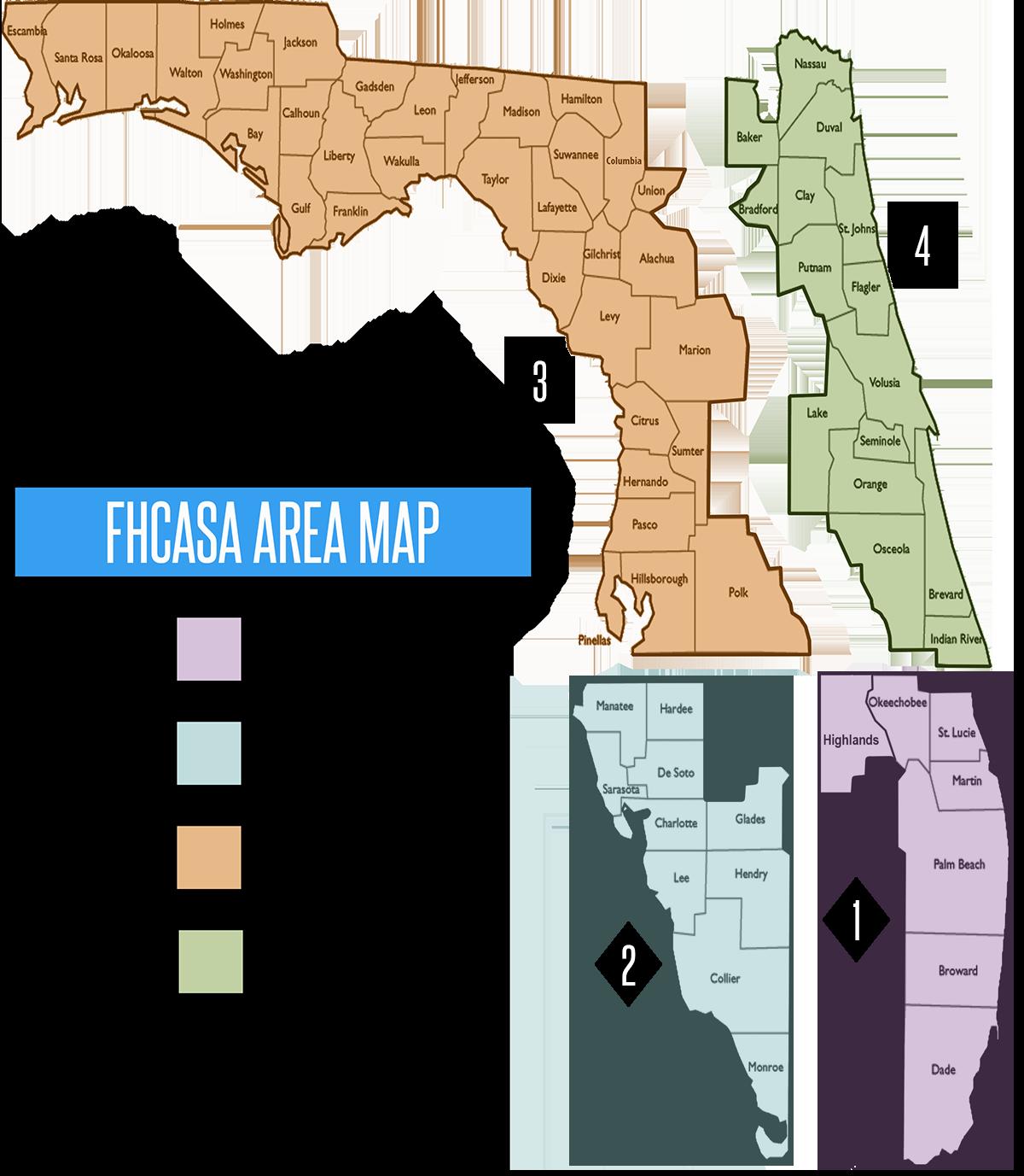Map Of Florida Area.Area Map Florida Half Century Amateur Softball Association